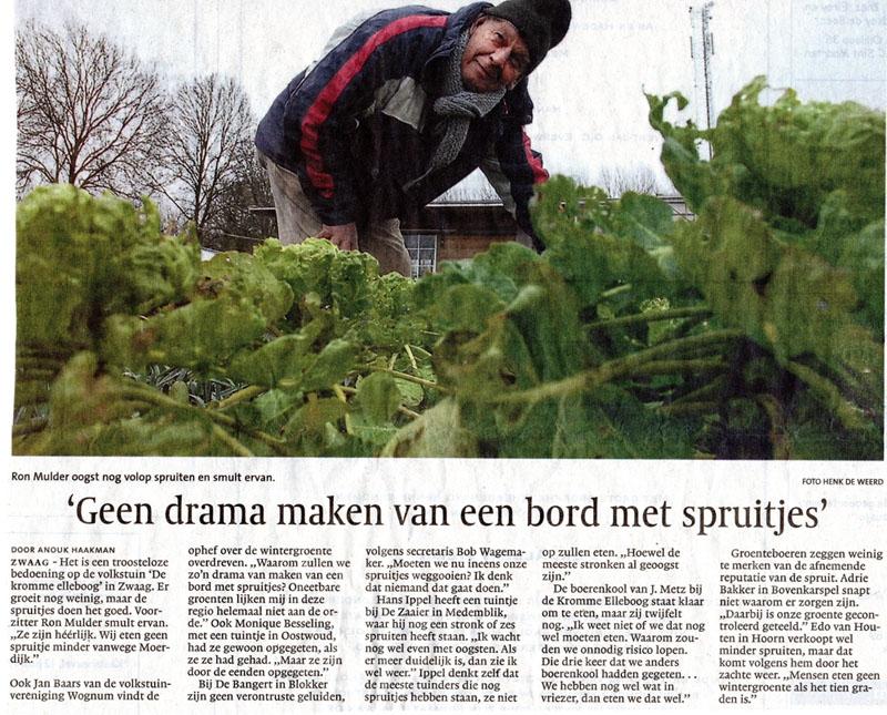 januari 2010 - Geen drama maken van een bord met spruitjes