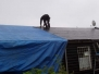 Nieuw dak clubgebouw