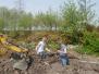 Werk aan de parkeerplaats 2006